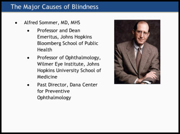 The Major Causes of Blindness